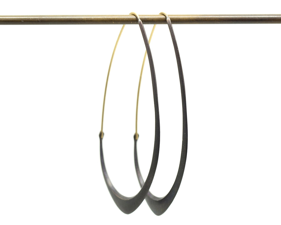 Large Facet Hoops-Hannah Blount Jewelry