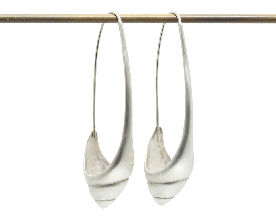 Sea Snail Hoops-Hannah Blount Jewelry