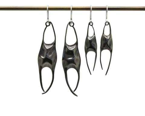 Skate Egg Case Earrings-Hannah Blount Jewelry