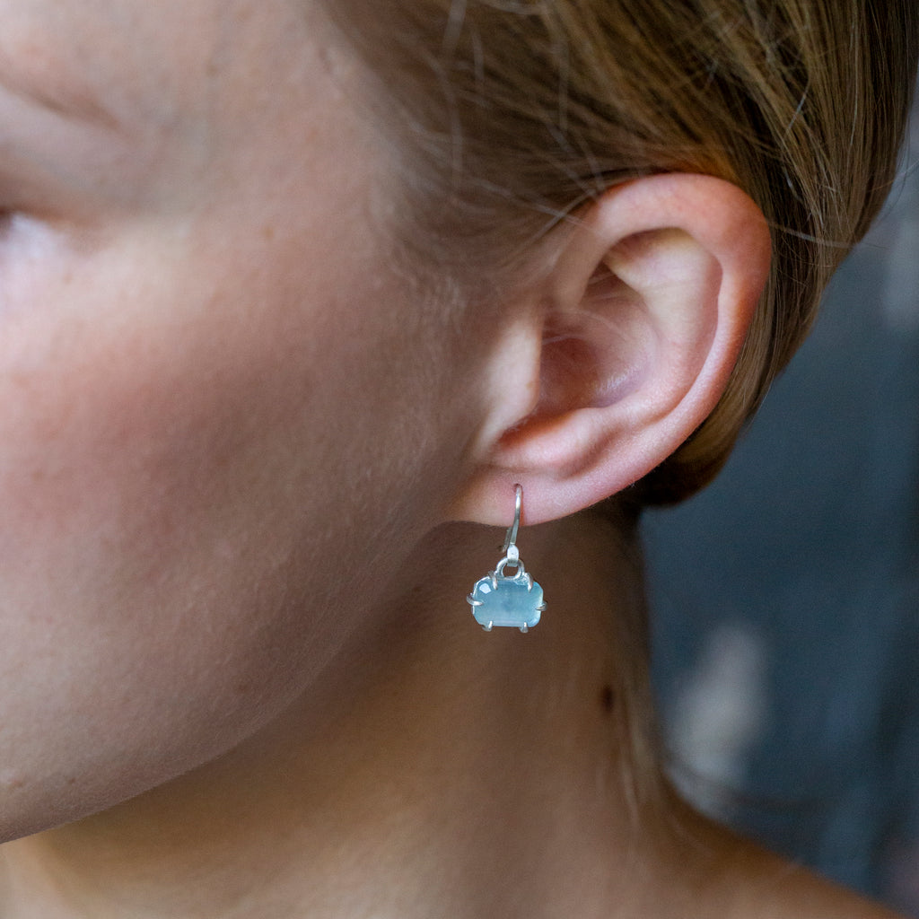 Aquamarine Prism Vanity Earrings-Hannah Blount Jewelry