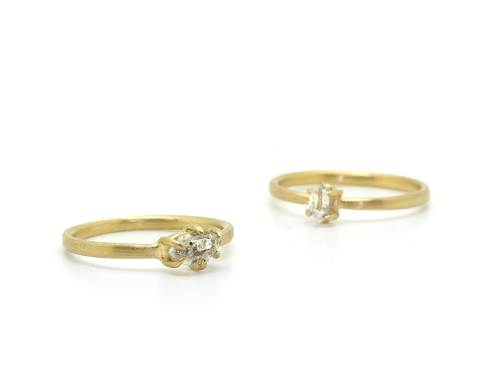 Sticks and Stones Herkimer Diamond Stacking Rings-Hannah Blount Jewelry