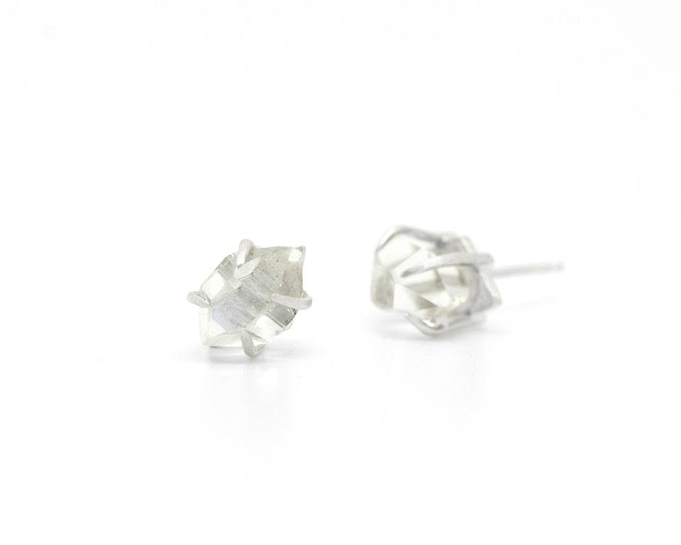 Sticks and Stones Herkimer Diamond Studs-Hannah Blount Jewelry
