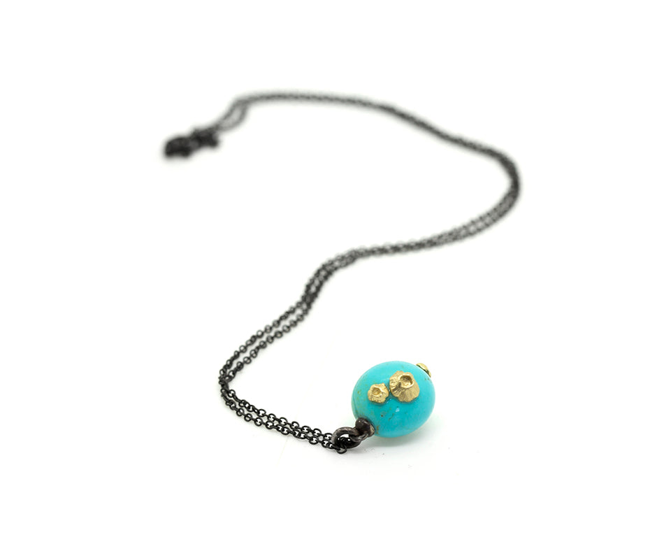 Turquoise Buoy Ruthie B. Necklace-Hannah Blount Jewelry