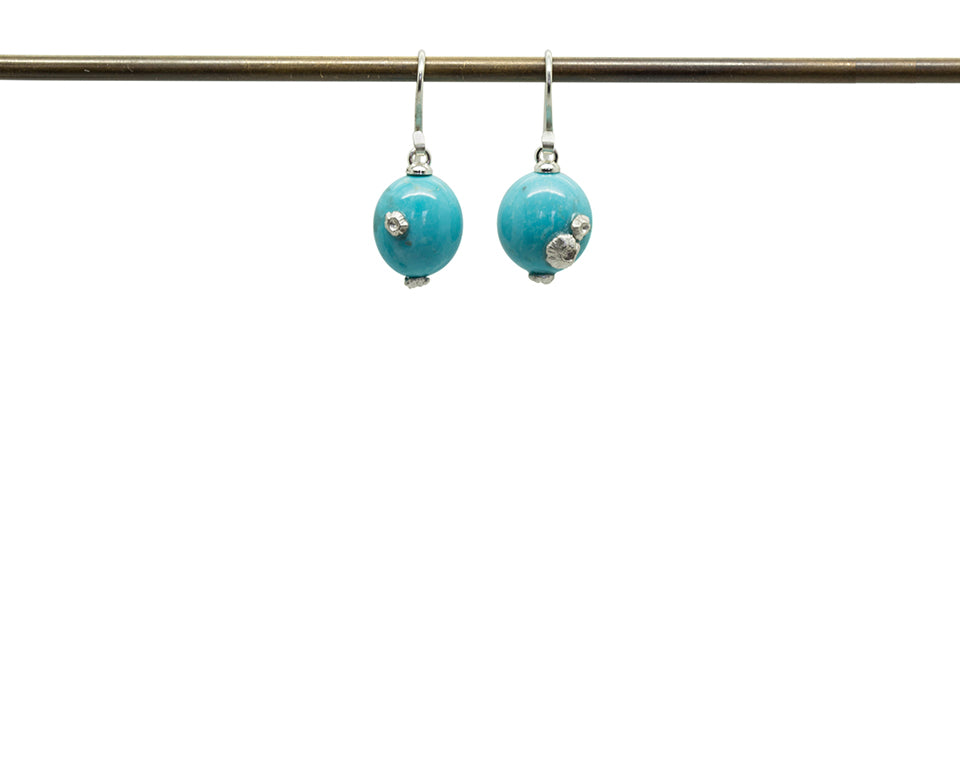 Turquoise Buoy Ruthie B. Earrings-Hannah Blount Jewelry