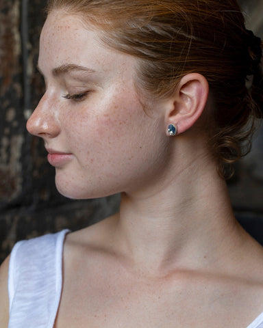 Mabe Pearl Ruthie B. Studs with Barnacles-Hannah Blount Jewelry