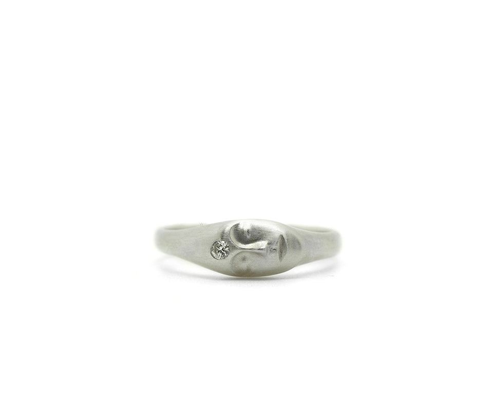 Medium Grey Lady Cameo Ring-Hannah Blount Jewelry