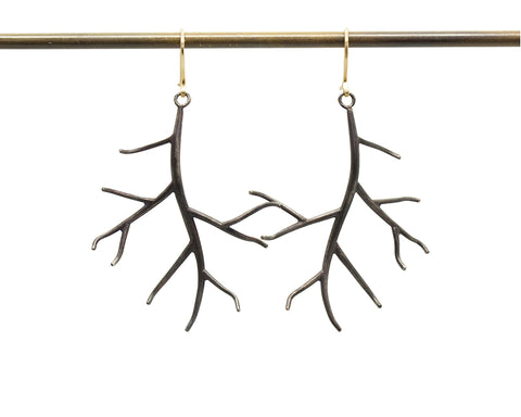 Medium Branch Earrings-Hannah Blount Jewelry