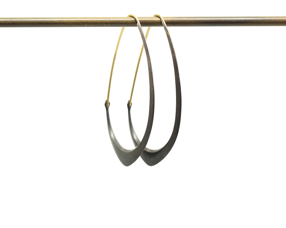 Medium Facet Hoops-Hannah Blount Jewelry
