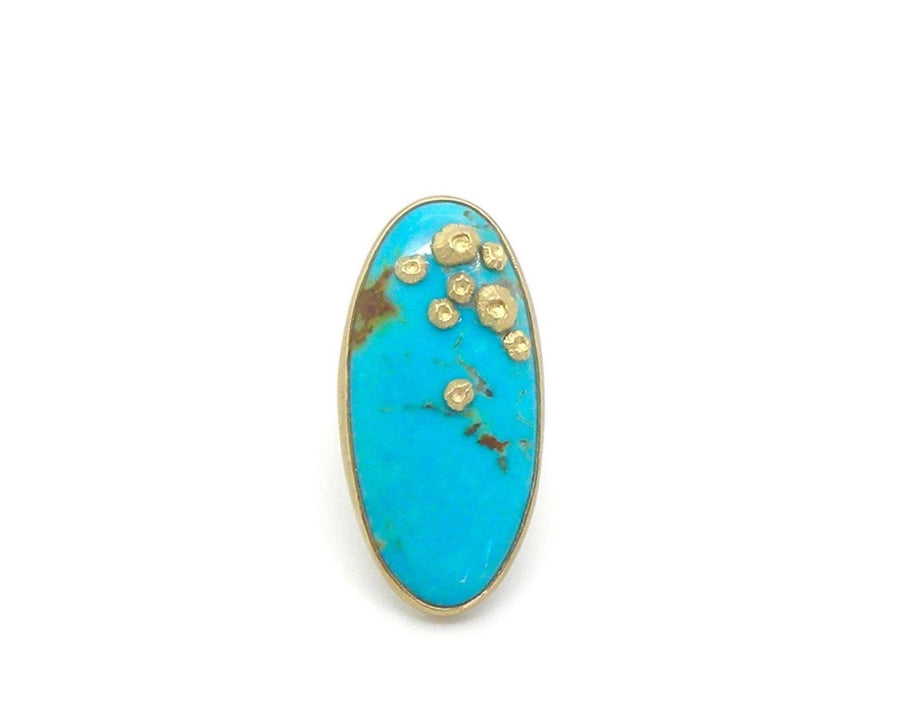 Sessile Turquoise Ruthie B. Ring with Barnacles-Hannah Blount Jewelry