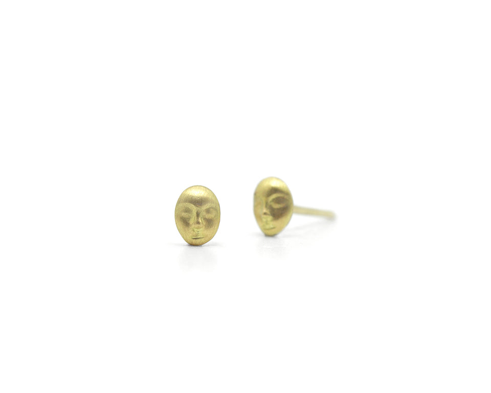 Grey Lady Cameo Studs-Hannah Blount Jewelry