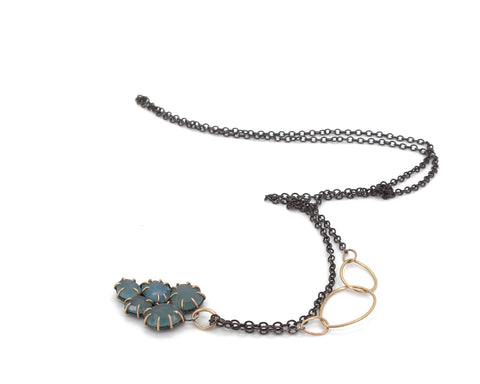 Aquamarine Muscadine Vanity Necklace-Hannah Blount Jewelry