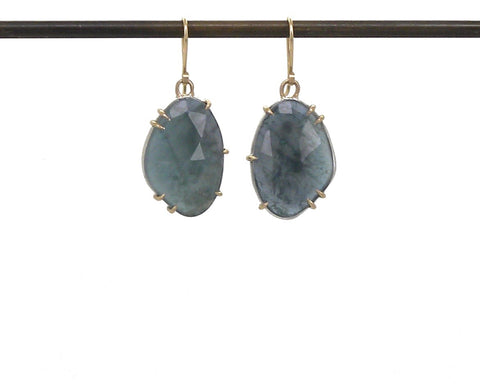Wetland Aquamarine Vanity Earrings-Hannah Blount Jewelry