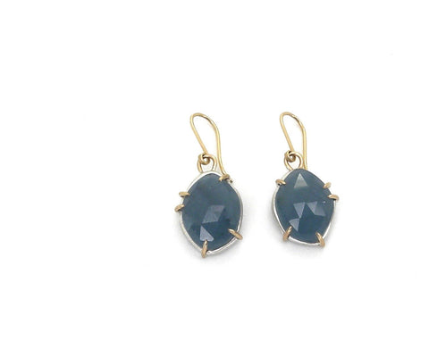 Teal Aquamarine Vanity Earrings-Hannah Blount Jewelry