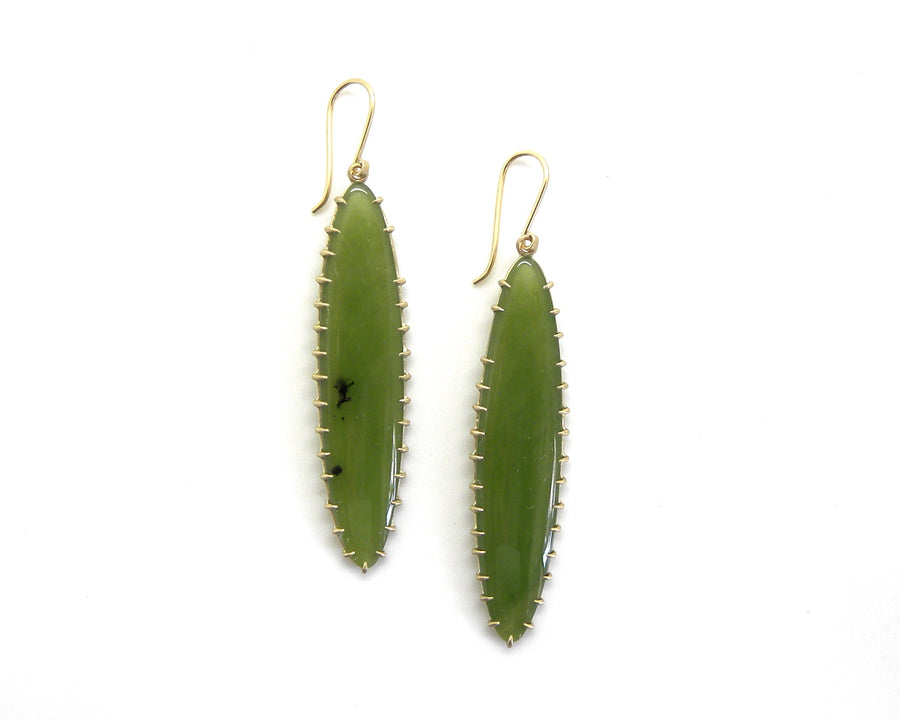 Alabastron Nephrite Jade Vanity Earrings-Hannah Blount Jewelry
