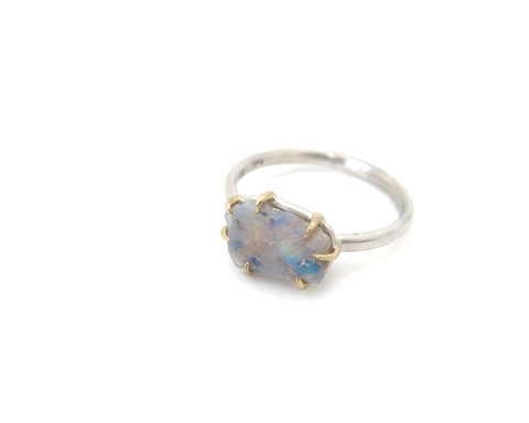 Phantasm Raw Opal Vanity Ring-Hannah Blount Jewelry