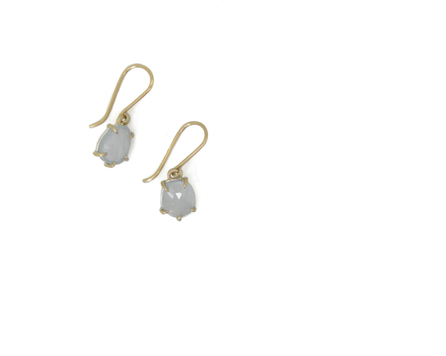Arctic Aquamarine Vanity Earrings-Hannah Blount Jewelry