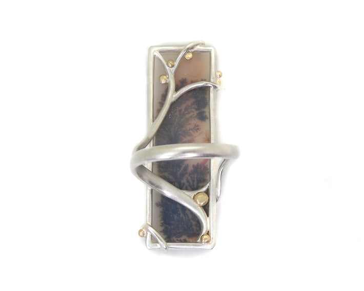 Boysenberry Dendritic Agate Branch Waiting Ring-Hannah Blount Jewelry