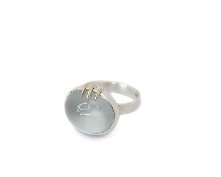 Ebullition Aquamarine Vanity Ring-Hannah Blount Jewelry