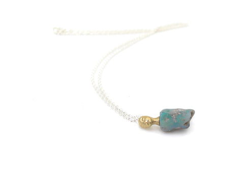 Doto Raw Opal Cameo Necklace-Hannah Blount Jewelry