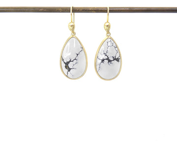 Guillemot Variscite Figurehead Cameo Earrings-Hannah Blount Jewelry