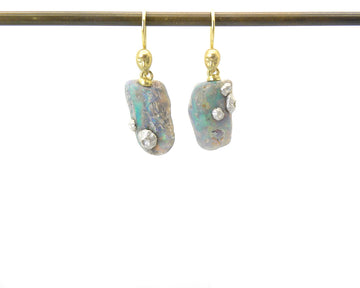 Amphitrite Opal Cameo Figurehead Earrings-Hannah Blount Jewelry