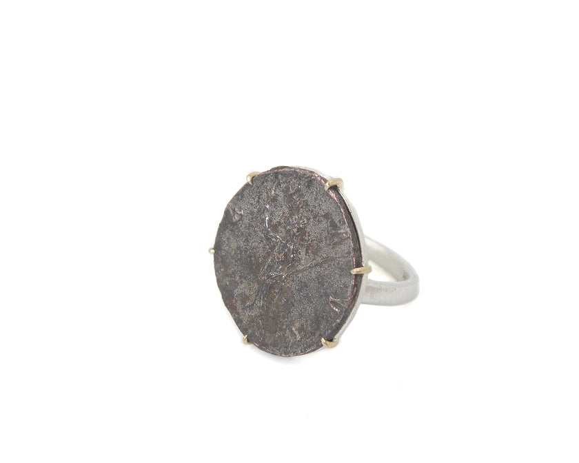 Ancient Goddess Pax Vanity Coin Ring-Hannah Blount Jewelry