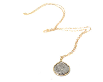 Ancient Ruler Julia Mamaea + Goddess Venus Coin Vanity Necklace-Hannah Blount Jewelry