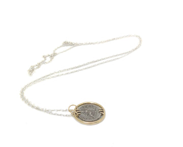 Ancient Ruler Fulvia Plautilla + Goddess Venus Coin Vanity Necklace-Hannah Blount Jewelry