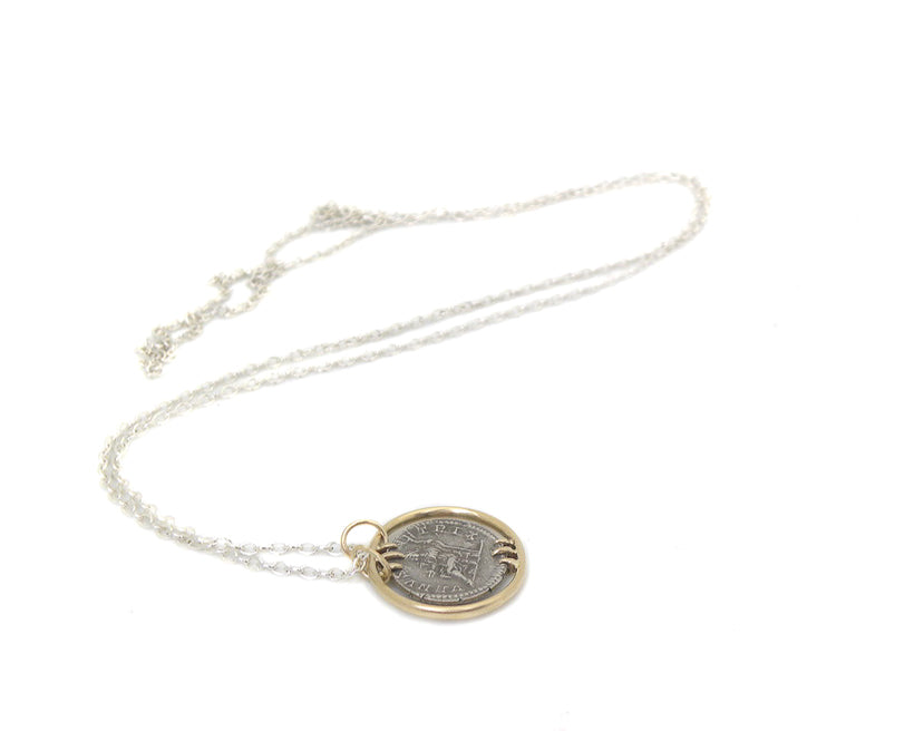 Ancient Empress Fulvia Plautilla + Goddess Venus Vanity Coin Necklace-Hannah Blount Jewelry