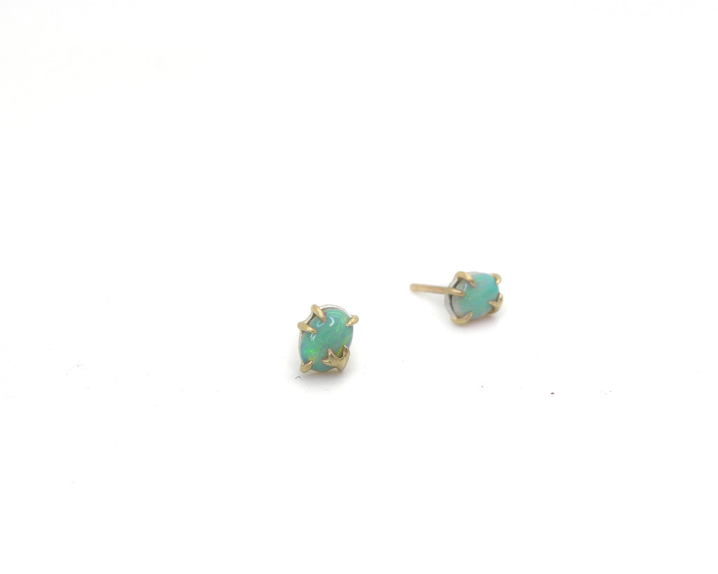 Tiny Spearmint Opal Branch Waiting Studs-Hannah Blount Jewelry