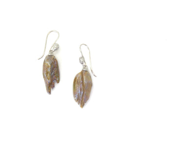 Mauve Birds of Prey Cameo Figurehead Earrings-Hannah Blount Jewelry