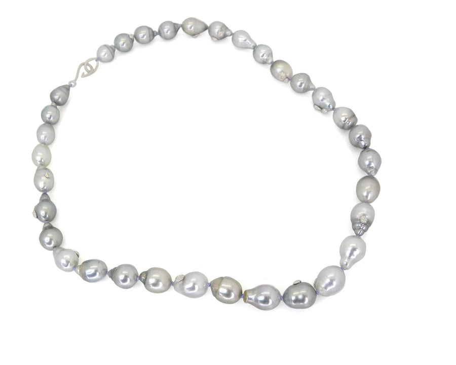 Cloud Tahitian Pearl Ruthie B. Necklace with Barnacles-Hannah Blount Jewelry