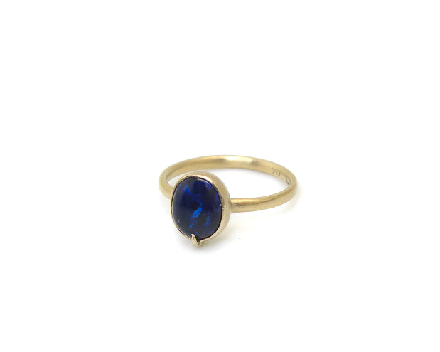 Midnight Opal Vanity Ring-Hannah Blount Jewelry