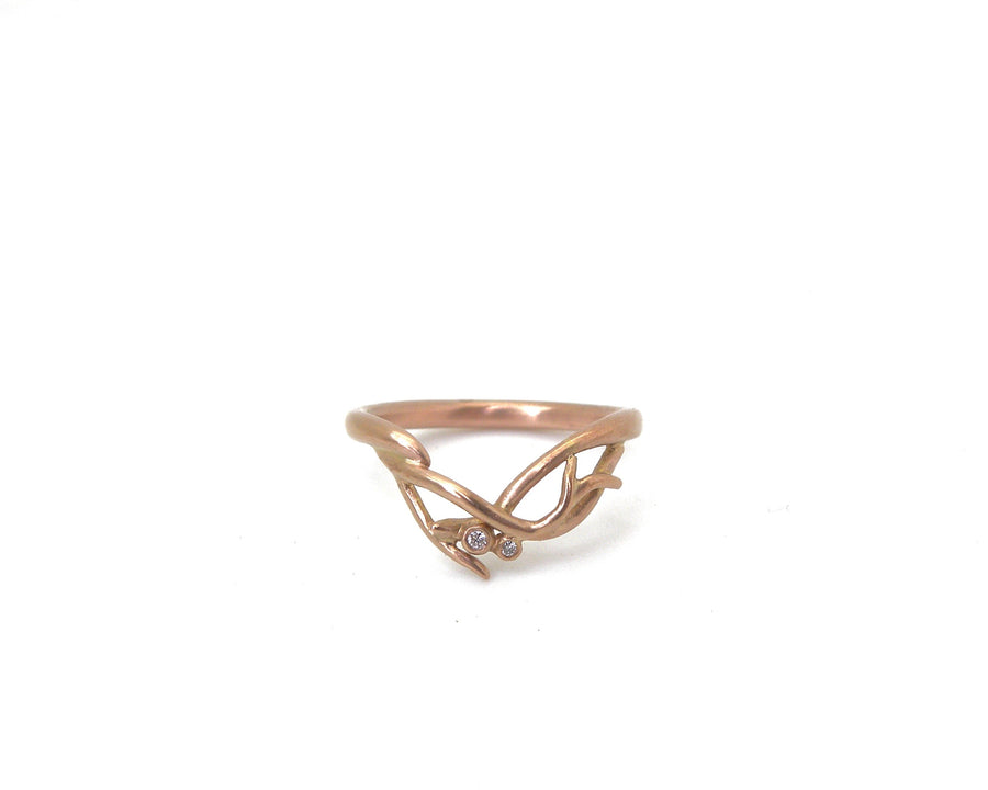 Diamond Hypericum Berry Branch Waiting Ring-Hannah Blount Jewelry