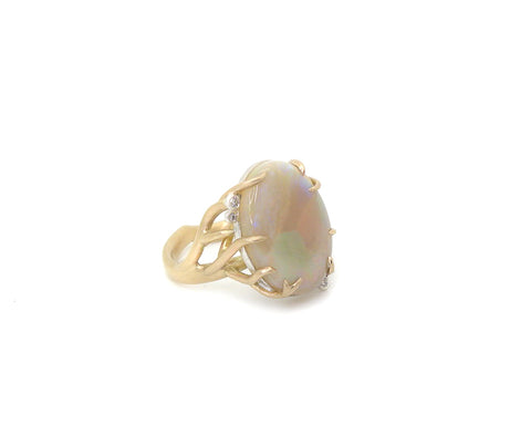 Ghostberry Opal Branch Waiting Ring, 7-Hannah Blount Jewelry