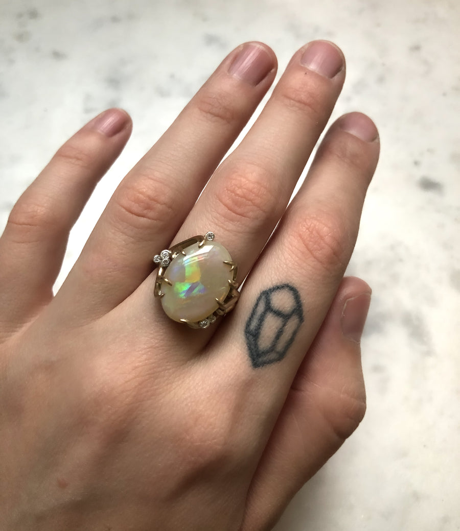 Ghostberry Opal Branch Waiting Ring-Hannah Blount Jewelry