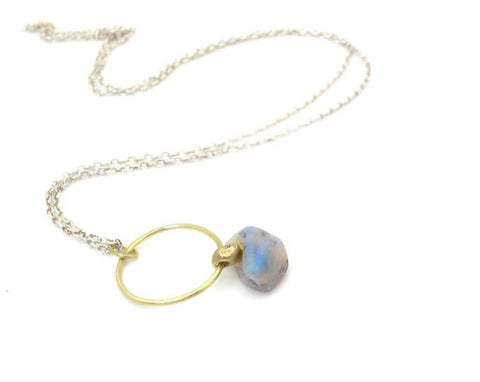 Kymopoleia Opal Cameo Necklace-Hannah Blount Jewelry