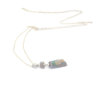 Atropos Raw Opal Cameo Necklace-Hannah Blount Jewelry