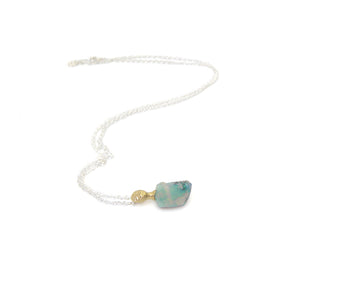 Ogygia Raw Opal Cameo Necklace-Hannah Blount Jewelry