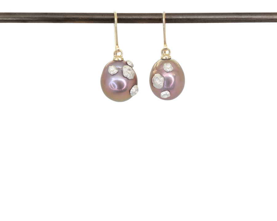 Lilac Horizon Pearl Ruthie B. Earrings-Hannah Blount Jewelry