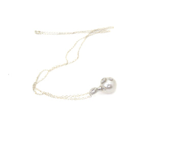 Nix Pearl Cameo Necklace with Barnacles-Hannah Blount Jewelry