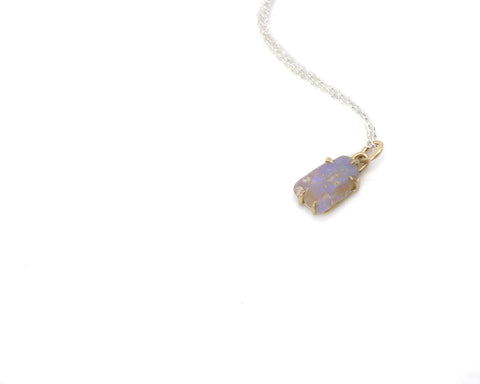 Lilac Raw Opal Vanity Necklace-Hannah Blount Jewelry