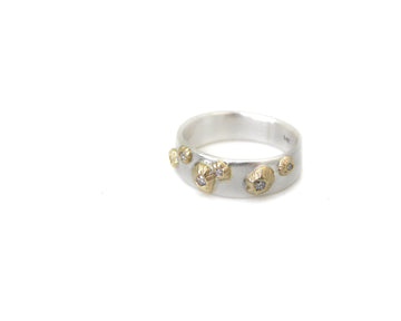 Barnacle Ruthie B. Band #23 with Diamonds-Hannah Blount Jewelry