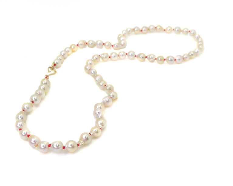 Silken Pearl Ruthie B. Necklace-Hannah Blount Jewelry