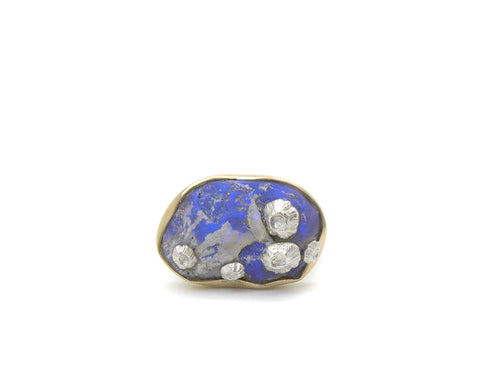 Twilight Opal Ruthie B. Ring with Barnacles-Hannah Blount Jewelry