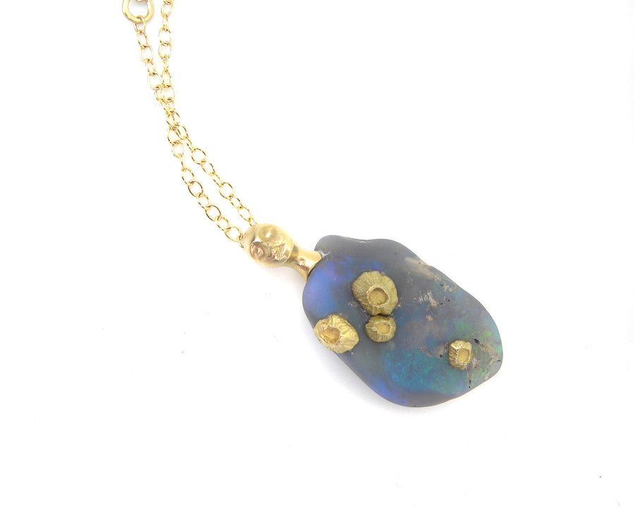 Thalassa Opal Cameo Necklace-Hannah Blount Jewelry