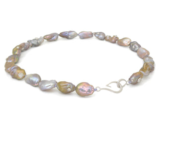 Twilight Pearl Ruthie B. Necklace with Barnacles-Hannah Blount Jewelry