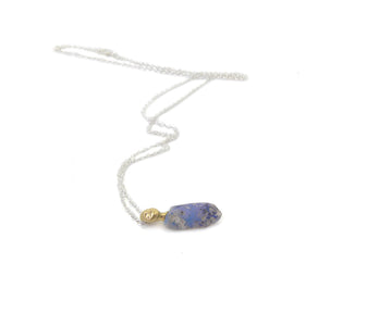 Cloudburst Raw Opal Cameo Necklace-Hannah Blount Jewelry