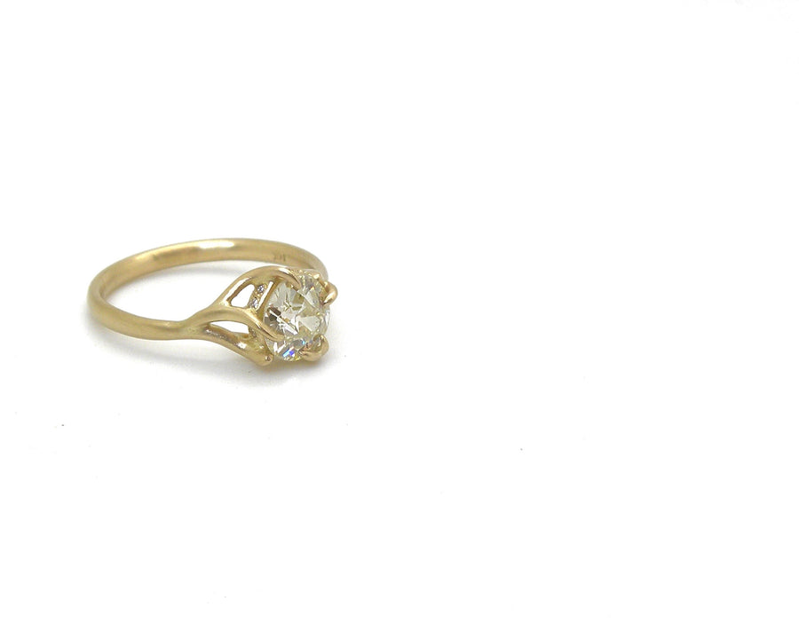 Magnolia Diamond Branch Waiting Ring-Hannah Blount Jewelry