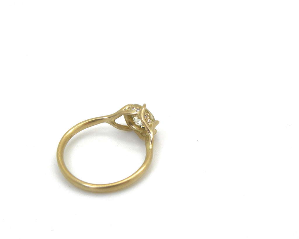 Magnolia Diamond Branch Waiting Ring, 7-Hannah Blount Jewelry